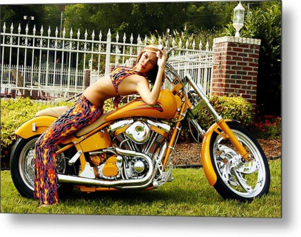 Bikes And Babes Metal Print