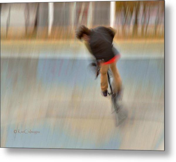 Biking  The Skateboard Park 4 Metal Print