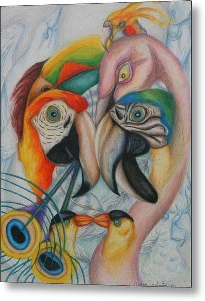 Birds  Metal Print by Andrea  Darlington