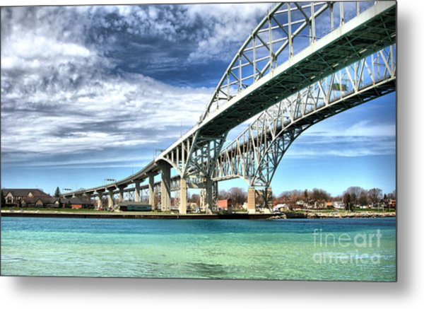 Blue Water Bridge Metal Print