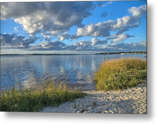 Blues Skies Of The Cape Fear River Metal Print