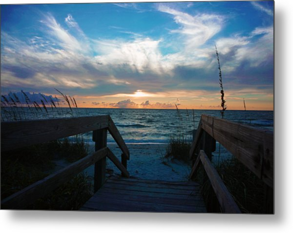 Boardwalk At Delnor-wiggins Pass State Park Metal Print