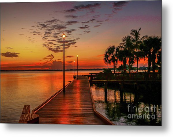 Boardwalk Sunrise Metal Print