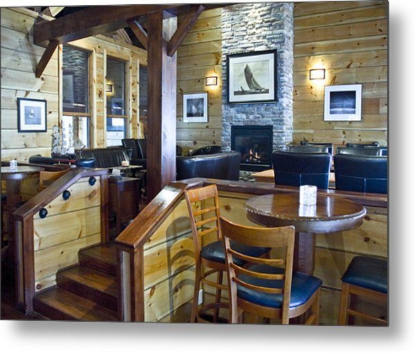 Boathouse Restaurant Metal Print by Michael Rutland