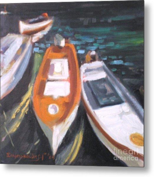 Boats Metal Print by George Siaba