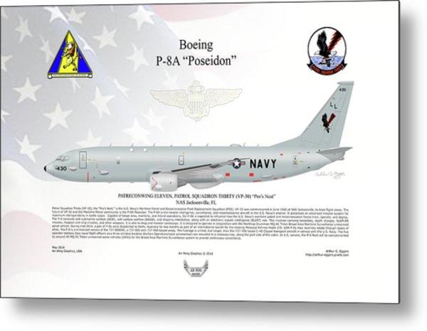 Boeing P-8a Poseidon Metal Print