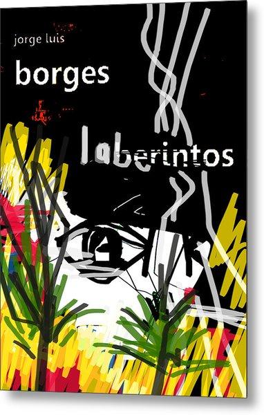 Borges' Labyrinths Poster Metal Print
