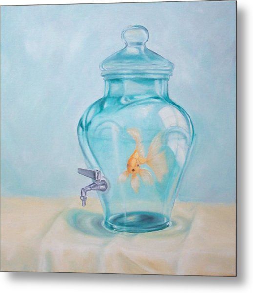 Bottled Up Metal Print