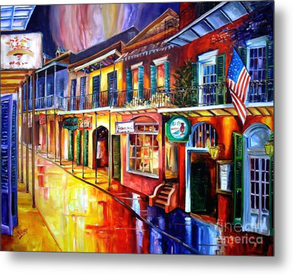 Bourbon Street Red Metal Print