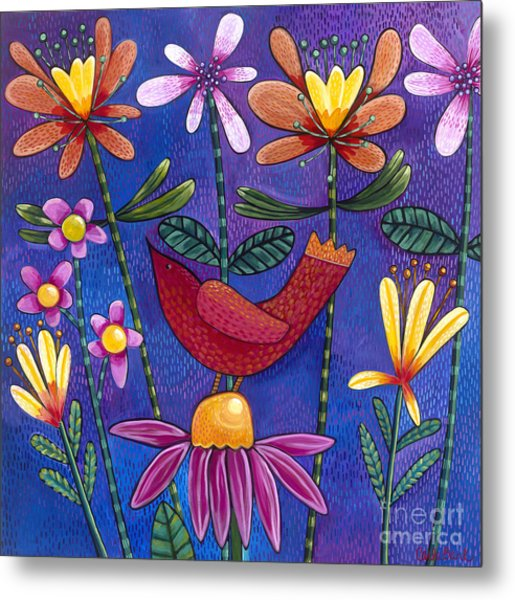 Metal Print featuring the painting Brand New Day by Carla Bank