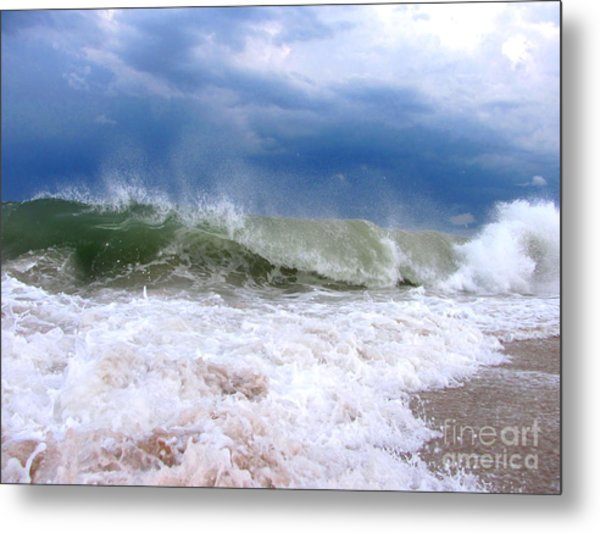 Breaking Metal Print