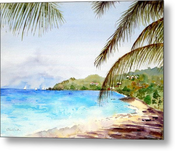 Brewers Bay Beach Metal Print