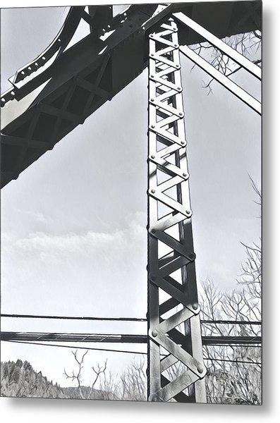 Bridge At Guerneville Metal Print