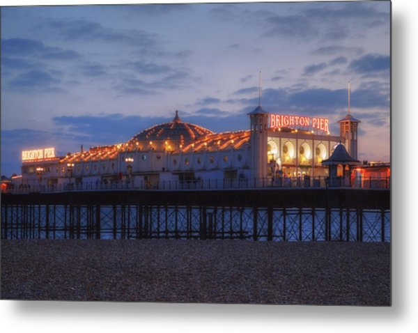 Brighton At Night Metal Print