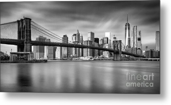 Brooklyn Bridge Panorama Metal Print