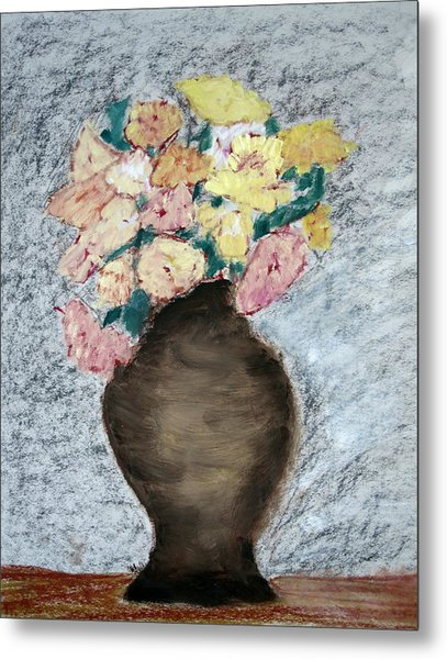 Brown Urn Metal Print