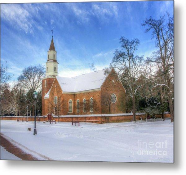Bruton Parish In Winter II Metal Print
