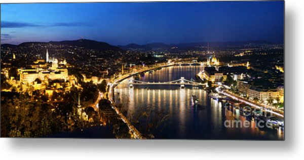 Budapest. View From Gellert Hill Metal Print