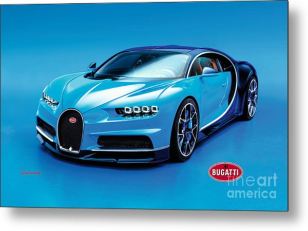 Bugatti Chiron 30 Metal Print