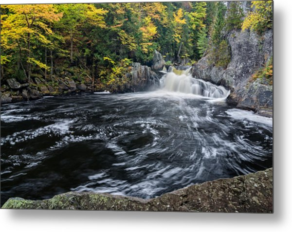 Metal Print featuring the photograph Buttermilk Falls Gulf Hagas Me. by Michael Hubley