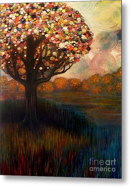 Button Tree 0001 Metal Print