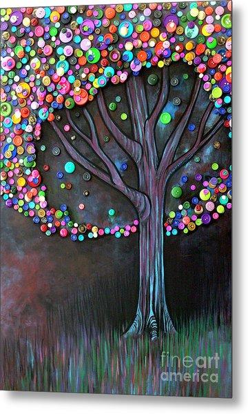 Button Tree 0006 Metal Print