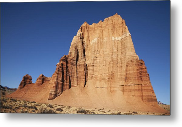 Capitol Reef National Park Temple Of The Sun Metal Print by Mark Smith