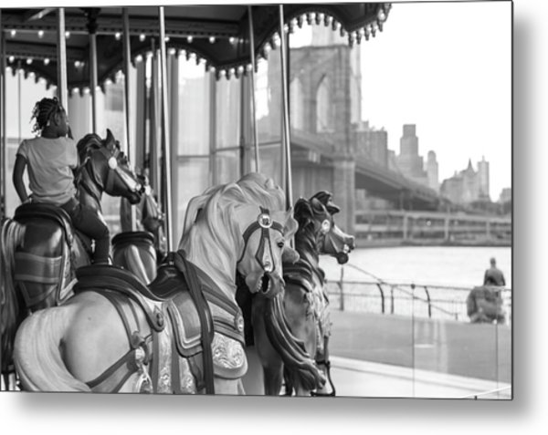 Carrousel Nyc Metal Print