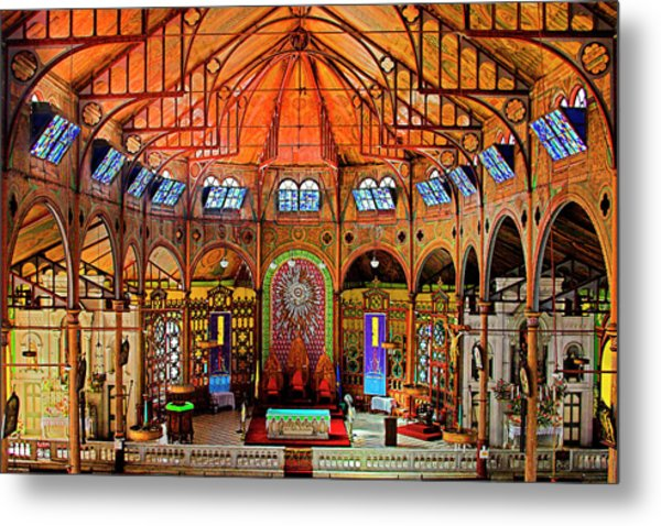 Cathedral-color- St Lucia Metal Print