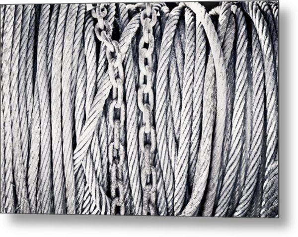 Chains And Cables Metal Print