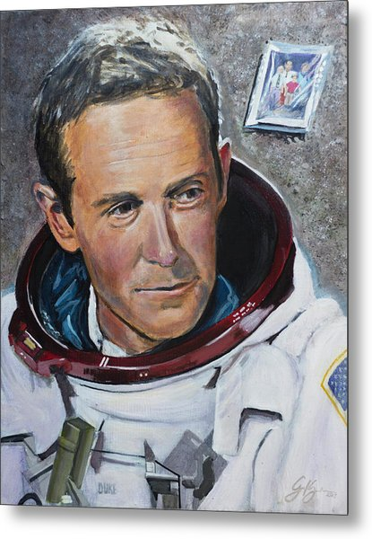 Charlie Duke Metal Print by Simon Kregar