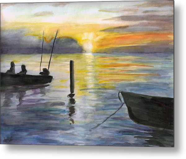 Chesapeake Sunset Metal Print