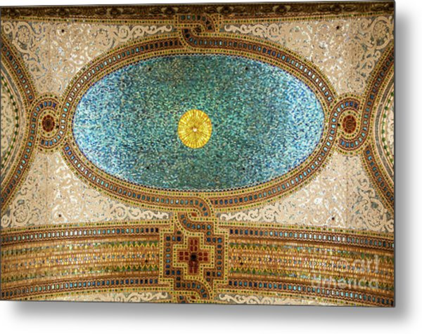 Chicago Cultural Center Ceiling Metal Print