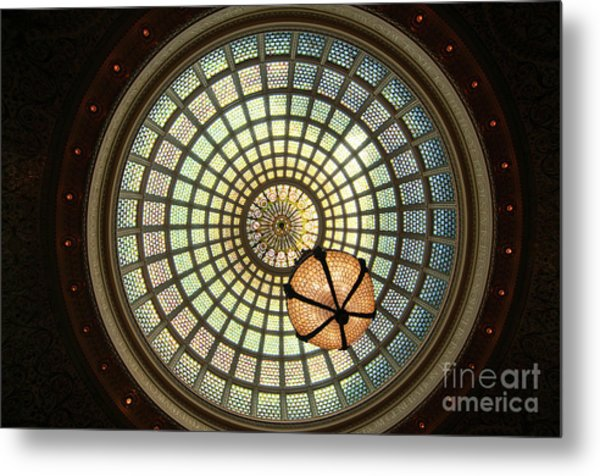 Chicago Cultural Center Dome Metal Print