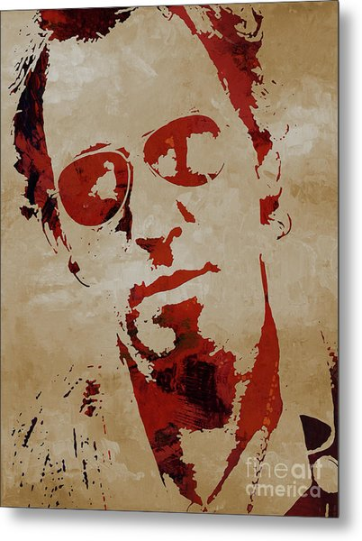Chris Martin Coldplay Metal Print
