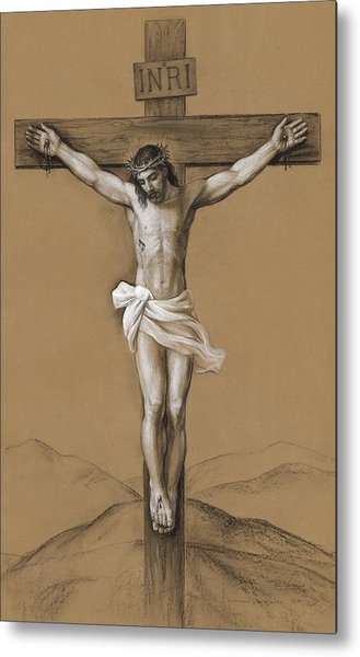 Christ Crucified Metal Print by Svitozar Nenyuk