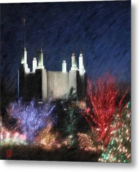 Christmas At The Temple Metal Print