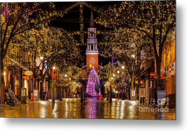 Christmas Time On Church Street. Metal Print