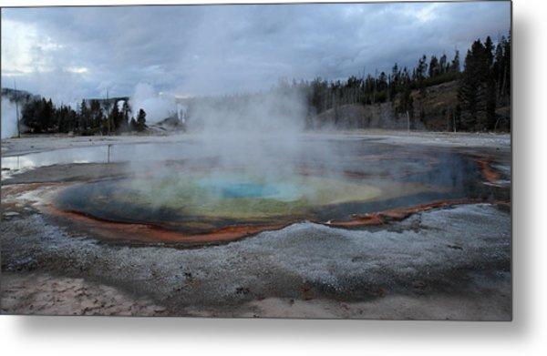 Chromatic Pool Yellowstone Metal Print by Pierre Leclerc Photography