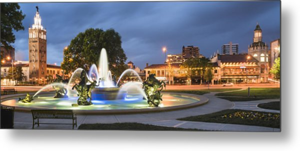 City Of Fountains Metal Print
