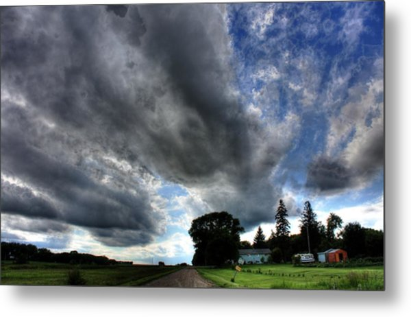 Cloud Lane Metal Print