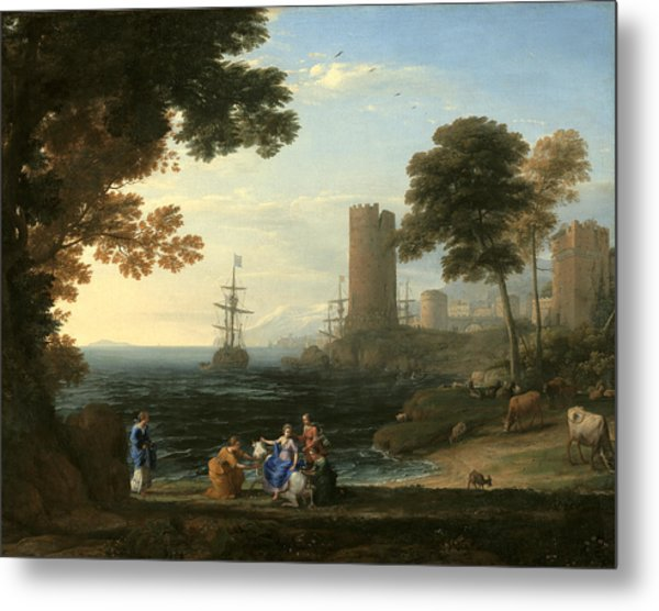 Coast View With The Abduction Of Europa Metal Print