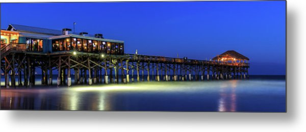 Cocoa Beach Pier At Twilight Metal Print