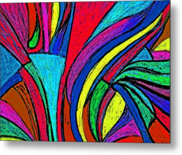 Color Flow Metal Print by Cassandra Donnelly