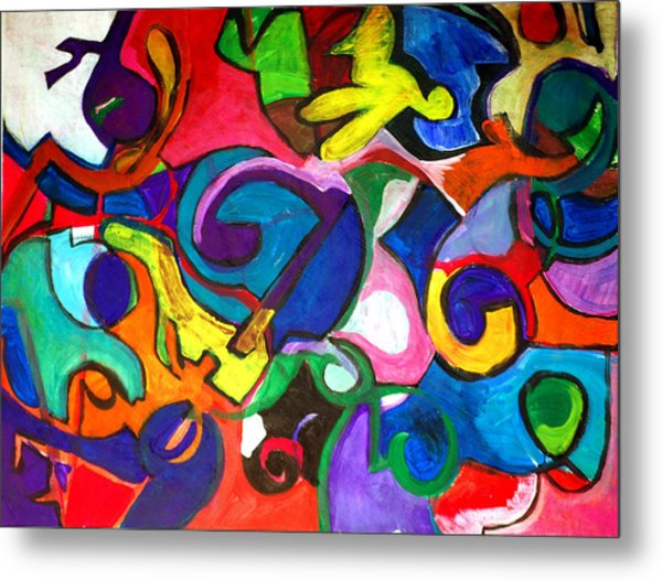 Color Shape Study Metal Print by Jame Hayes