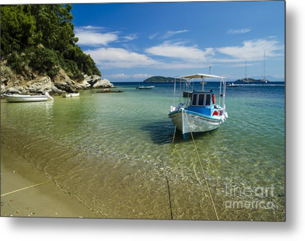 Colorful Boat Metal Print