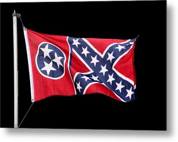 Confederate-flag Metal Print