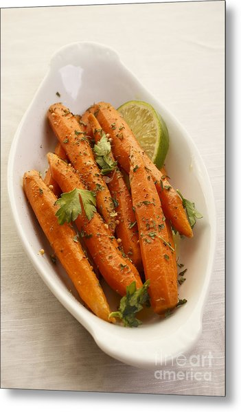 Coriander Roasted Carrots Metal Print