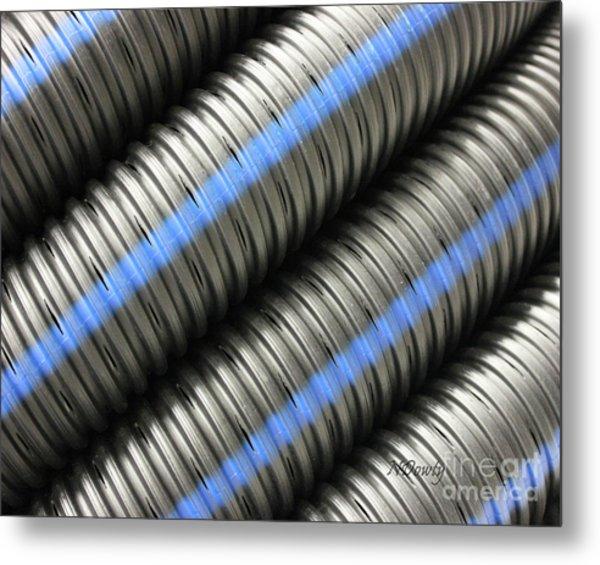 Corrugated Drain Pipe Metal Print