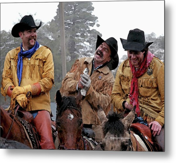 Metal Print featuring the photograph Cowboy Humor by Matalyn Gardner